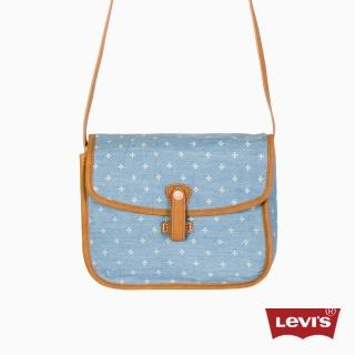 【Levis】淺藍印花側背包