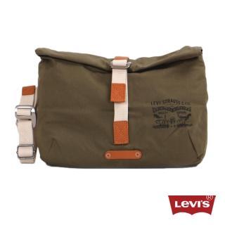 【Levis】男款率性多功能橄欖綠素面腰包