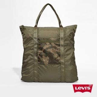 【Levis】男款率性收納式叢林印花後背托特包
