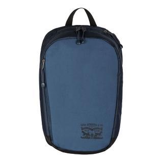 【Levis】男款時尚海軍藍素面後背包