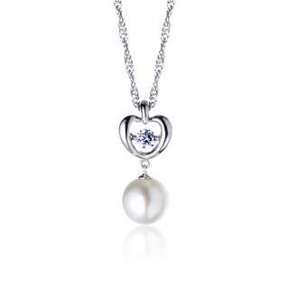【大東山珠寶】璀璨純銀天然珍珠項鍊 迷戀之舞(時尚珍珠)