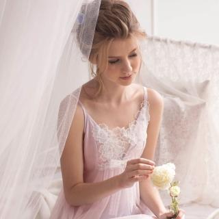 【羅絲美睡衣】花仙子細肩短版洋裝睡衣(浪漫粉)