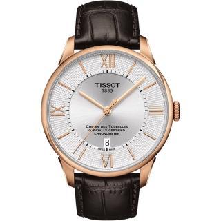 【TISSOT】杜魯爾系列 COSC天文台認證機械腕錶(T0994083603800)
