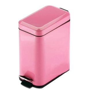 【PUSH! 居家生活用品】colourful液壓緩降方型垃圾桶 置物桶(5升I19)