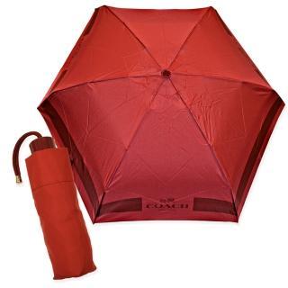 【COACH】時尚經典輕量型晴雨傘(玫瑰紅)