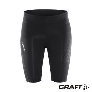【CRAFT】DELTA女款運動壓縮短褲(黑色)