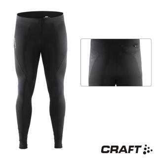 【CRAFT】DELTA男款運動壓縮長褲(黑色)