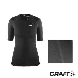 【CRAFT】DELTA女款運動壓縮短袖上衣(黑色)