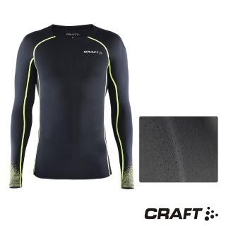 【CRAFT】DELTA男款運動壓縮長袖上衣(黑/綠)