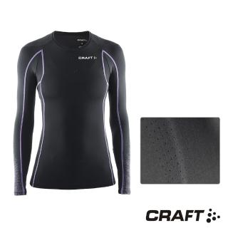 【CRAFT】DELTA女款運動壓縮長袖上衣(黑/紫)