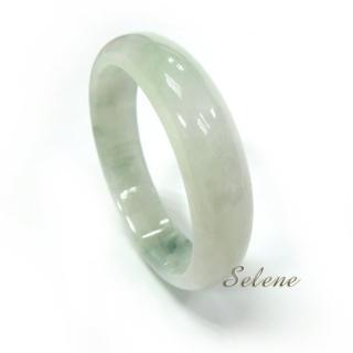 【Selene珠寶】典藏冰種飄花翡翠手鐲(A貨翡翠6597)