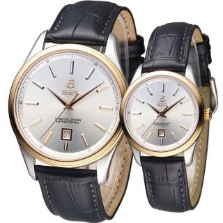 【依波路 E.BOREL】復古系列簡約時尚對錶(GBR906-212BK LBR906-212BK)