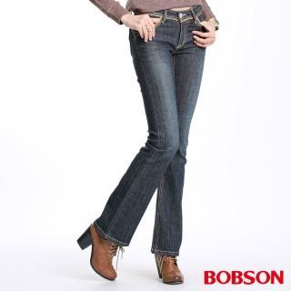 【BOBSON】金色出芽小喇叭牛仔褲(9062-52)