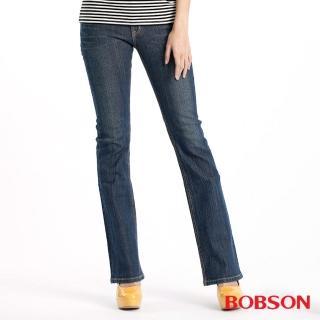 【BOBSON】金色出芽小喇叭牛仔褲(9062-53)
