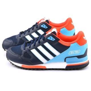 【Adidas】男款 ZX 750 Originals 復古休閒鞋(S79194-藍)