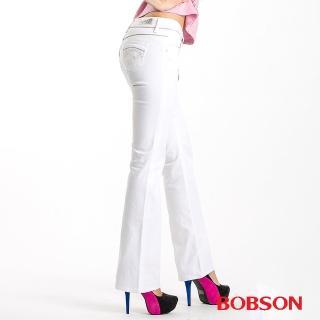 【BOBSON】金色出芽小喇叭牛仔褲(9062-80)