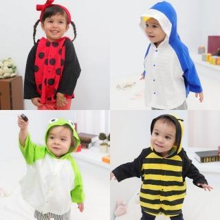 【baby童衣】嬰兒披風 薄外套 動物小外套 60105(共4色)
