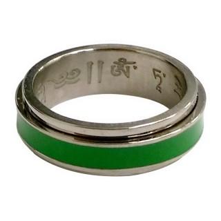【十相自在】轉運鋼戒指(綠度母)