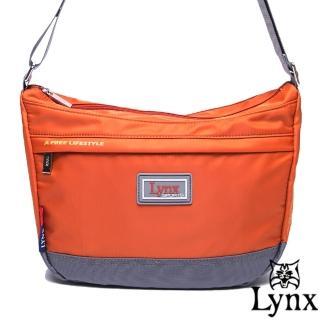 【Lynx】山貓城市悠遊款輕便質感馬鞍式側背包(共4色)