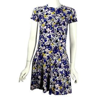 【KENZO】塗鴉針織短袖洋裝(粉/紫)