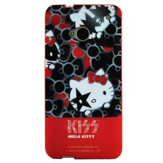【Aztec】凱蒂貓 HTC New One M7 矽膠軟手機殼(滿滿蝶結)