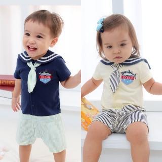 【baby童衣】寶寶爬服 水手風連身衣61033(共2色)