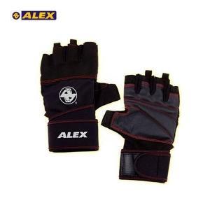 【ALEX】POWER 手套 -自行車 單車 健身 重量訓練(黑)