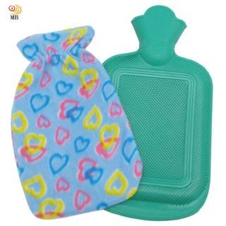 【月陽】時尚花紋2升冰熱兩用保暖水袋熱水袋送絨布套(0018)