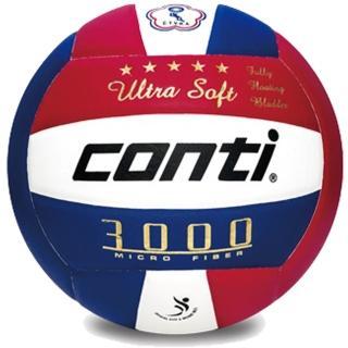 【Conti】5號頂級超細纖維貼布排球(V3000-5-RWB)