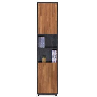 【AT HOME】布拉格1.35尺柚木二門中空書櫃