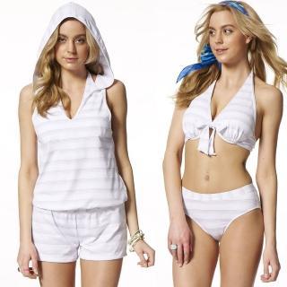 【SAIN SOU】大女比基尼三件式泳裝(附泳帽A93508)