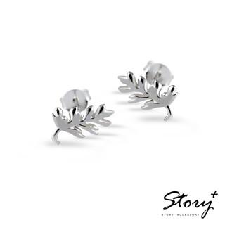 【STORY ACCESSORY】設計師手工系列-925純銀耳環-蕨類