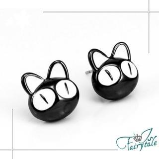 【伊飾童話】卡通黑貓*俏皮童趣耳環