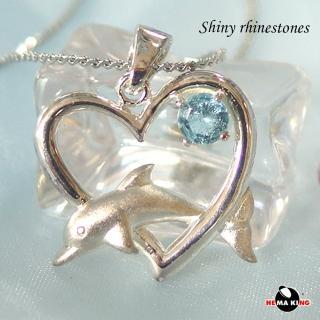 【HEMAKING】真愛無限純銀項鍊-藍(純銀)