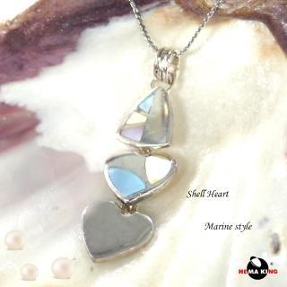 【HEMAKING】純銀天然貝殼型項鍊(貝殼.純銀)