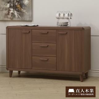 【日本直人木業】wood北歐生活120CM廚櫃