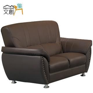 【文創集】蘭沐斯  雙人座厚皮革沙發
