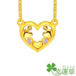 【幸運草clover gold】小幸運 鋯石+黃金 鎖骨鍊墜