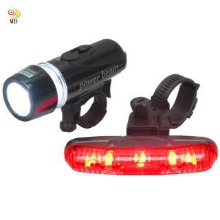 【月陽MB】自行車超亮5LED貓眼前燈頭燈防水3段長尾燈組(FY201)