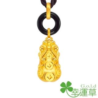 【幸運草clover gold】豐財貔貅 瑪瑙+黃金 男墜