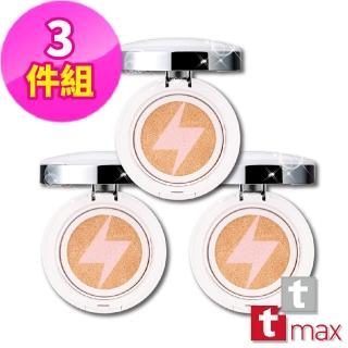【tt max】珍珠光感舒芙蕾精華粉霜SPF33★★★-粉餅3件組(雙效氣墊粉餅 完美妝感加倍-12H速達)