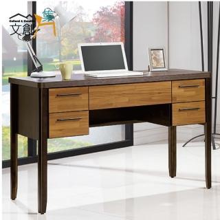 【文創集】耶利夫 木紋雙色4尺書桌/電腦桌