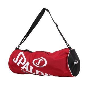【SPALDING】三顆裝球袋-斯伯丁 籃球 側背包 手提袋 收納袋 行李袋(紅白)