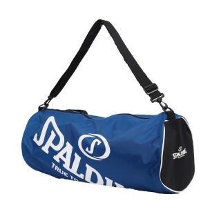 【SPALDING】三顆裝球袋-斯伯丁 籃球 側背包 手提袋 收納袋(寶藍白)