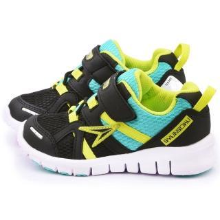 【Achilles瞬足】中童 超輕量透氣運動鞋(ESJC1481-黑)