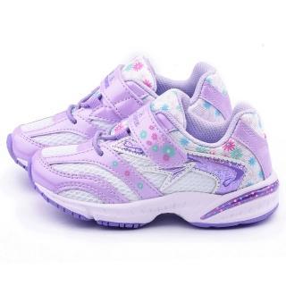 【Achilles瞬足】中童 超輕量窄楦運動鞋(ELEC2721-白紫)