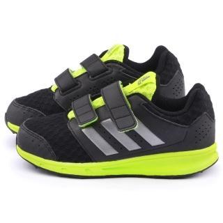 【Adidas】中大童 魔鬼氈透氣運動鞋(AF4530-黑)