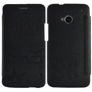 【Aztec】凱蒂貓 Sony Xperia Z1 側掀式皮套(低調黑)