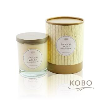 【KOBO】美國大豆精油蠟燭 - 梨與荔枝(330g/可燃燒80hr)