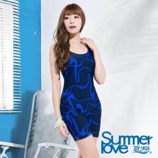 【夏之戀SUMMERLOVE】都會時尚連身四角泳衣-加大碼(E15793)